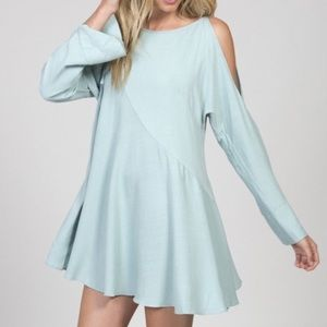 [XS] Free people asymmetrical cold shoulder dress